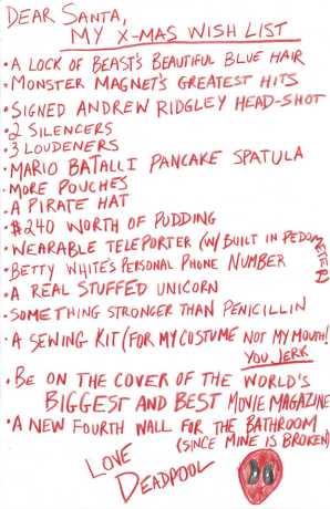 Deadpool's X-Mas Wish List